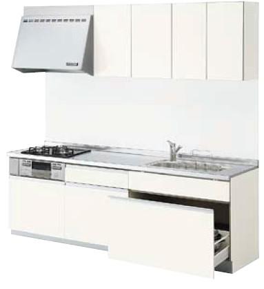 LIXILシエラ トレーボードプラン 間口2550cm 奥行65/60cm 食洗機なし グループ1 キッチンリフォームプラン