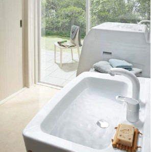 LIXILオフト 洗面リフォームプラン 間口750mm 洗髪タイプ 一面鏡