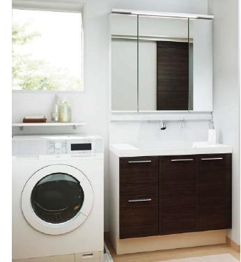 LIXIL/L.C 洗面リフォームプラン 間口900mm 洗髪タイプ 三面鏡