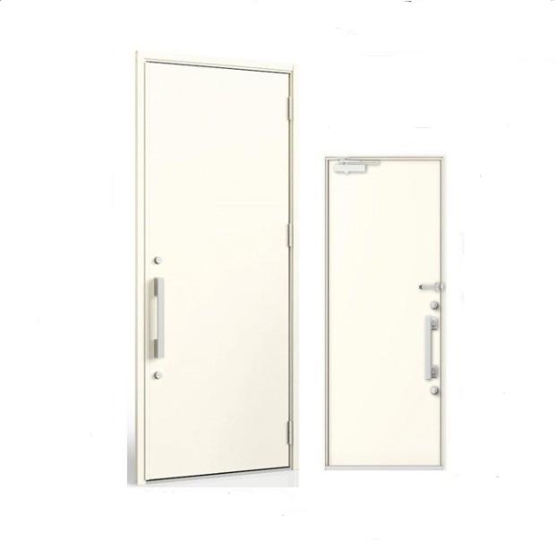 リフォーム玄関ドア LIXILリシェント M17型 K4仕様/アルミ色 手動キー アルミ色 片開きドアタイプ
