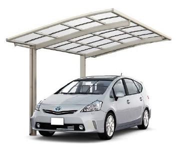 LIXILネスカR カーポートプラン 1台用 24-50型 屋根ポリカーボネート板