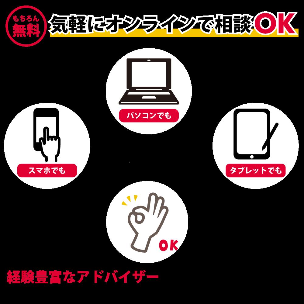 【コロナウイルス対策】無料オンライン相談会実施中!